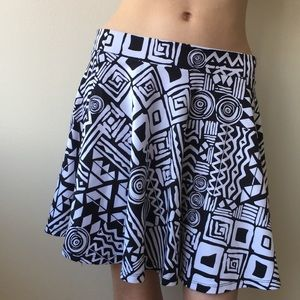Ambiance Skirts - 💙Graphic print skater Ambiance Apparel skirt